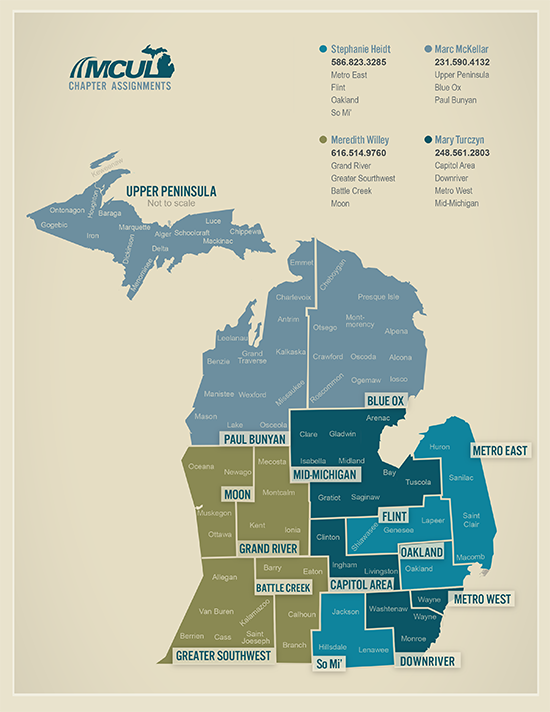 Chapter Map Michigan Credit Union League