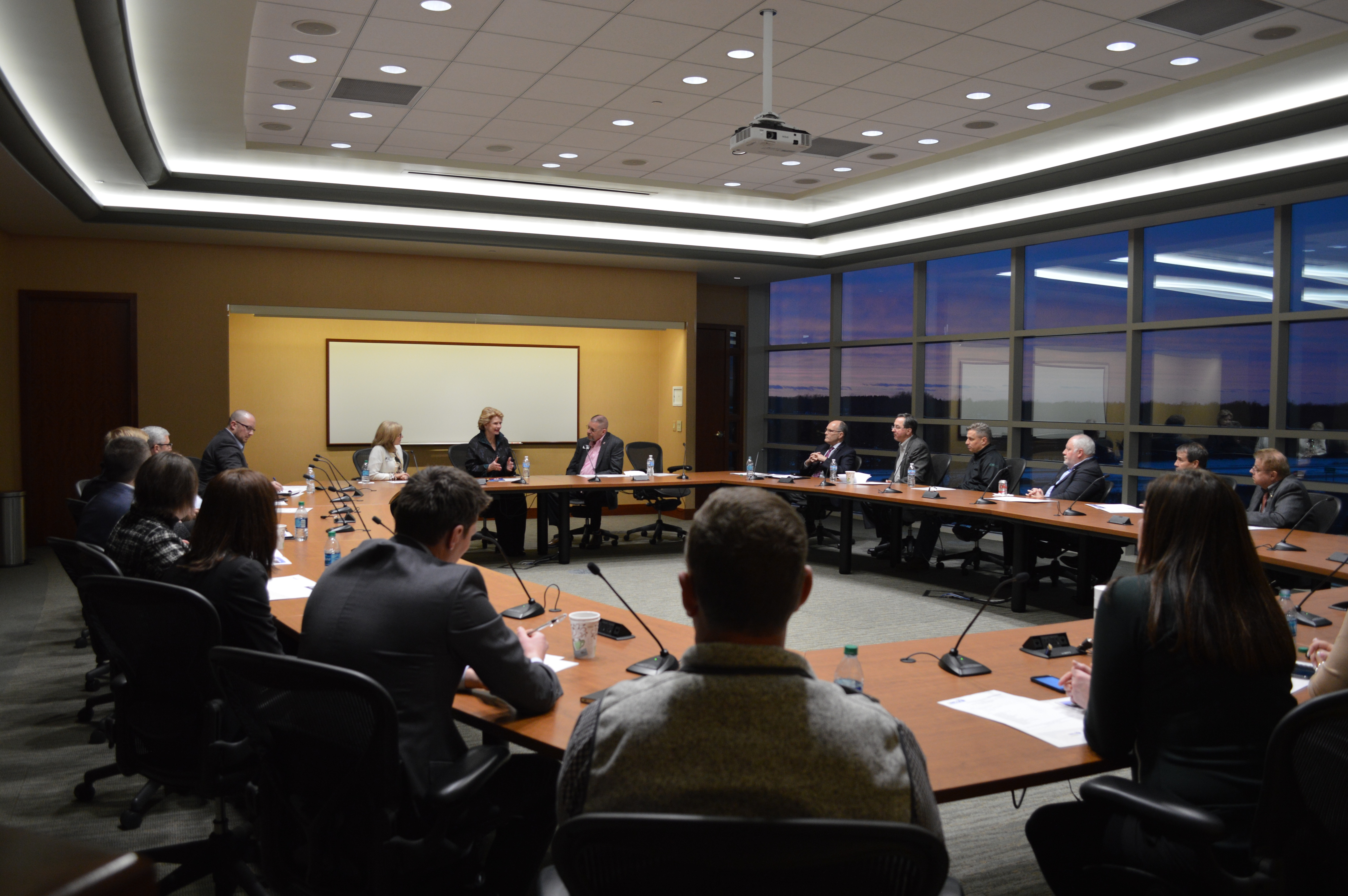 Debbie Stabenow meets with CU leaders at MSUFCU