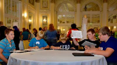 Teens prepare budgets at a Teen Reality Fair