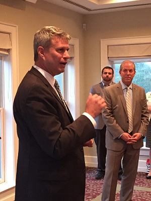U.S. Rep. Bill Huizenga and Dave Adams