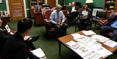 Michigan credit union leaders meet with U.S. Rep. Fred Upton