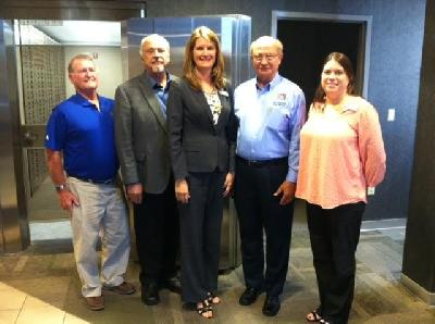 State Rep. David Maturen meets with Marshall Community Credit Union leaders