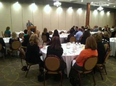 Rep. John Moolenaar speaks at the Mid-Michigan Chapter's breakfast
