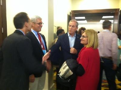 MCUL's EVP/COO Ken Ross and CEO Dave Adams talk with NCUA Chair Debbie Matz