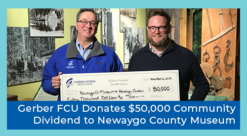 Gerber FCU Newaygo Donation