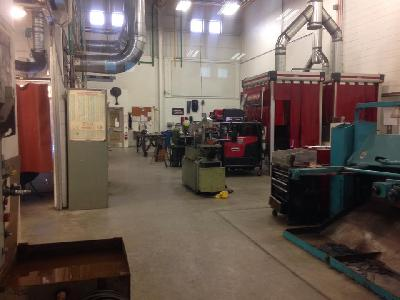 A view of the welding lab at Lansing Community College's West Campus