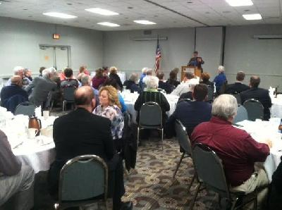 Blue Ox Chapter leaders listen to 1st  Dist. Congressional Candidates in Alpena
