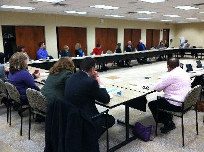Capitol Area chapter of CU's legislative breakfast w/ lawmakers hosted by LAFCU